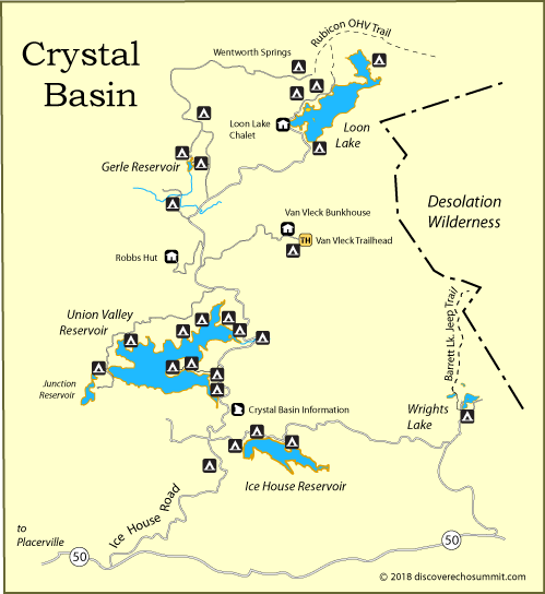 National Forests In California Map.Crystal Basin