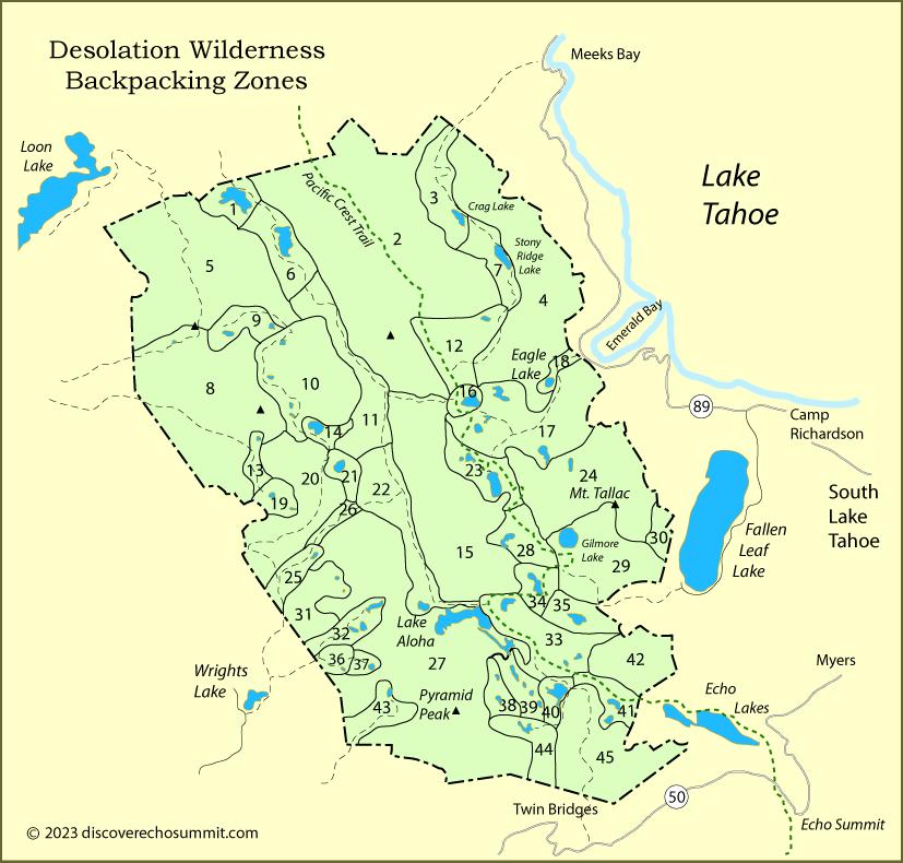 Desolation Wilderness Permits on